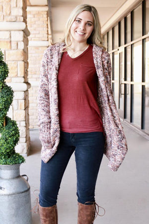 Multi Rose Cardigan