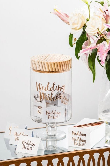 Wedding Wish Glass Jars