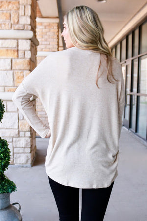 Oatmeal V-Neck Sweater