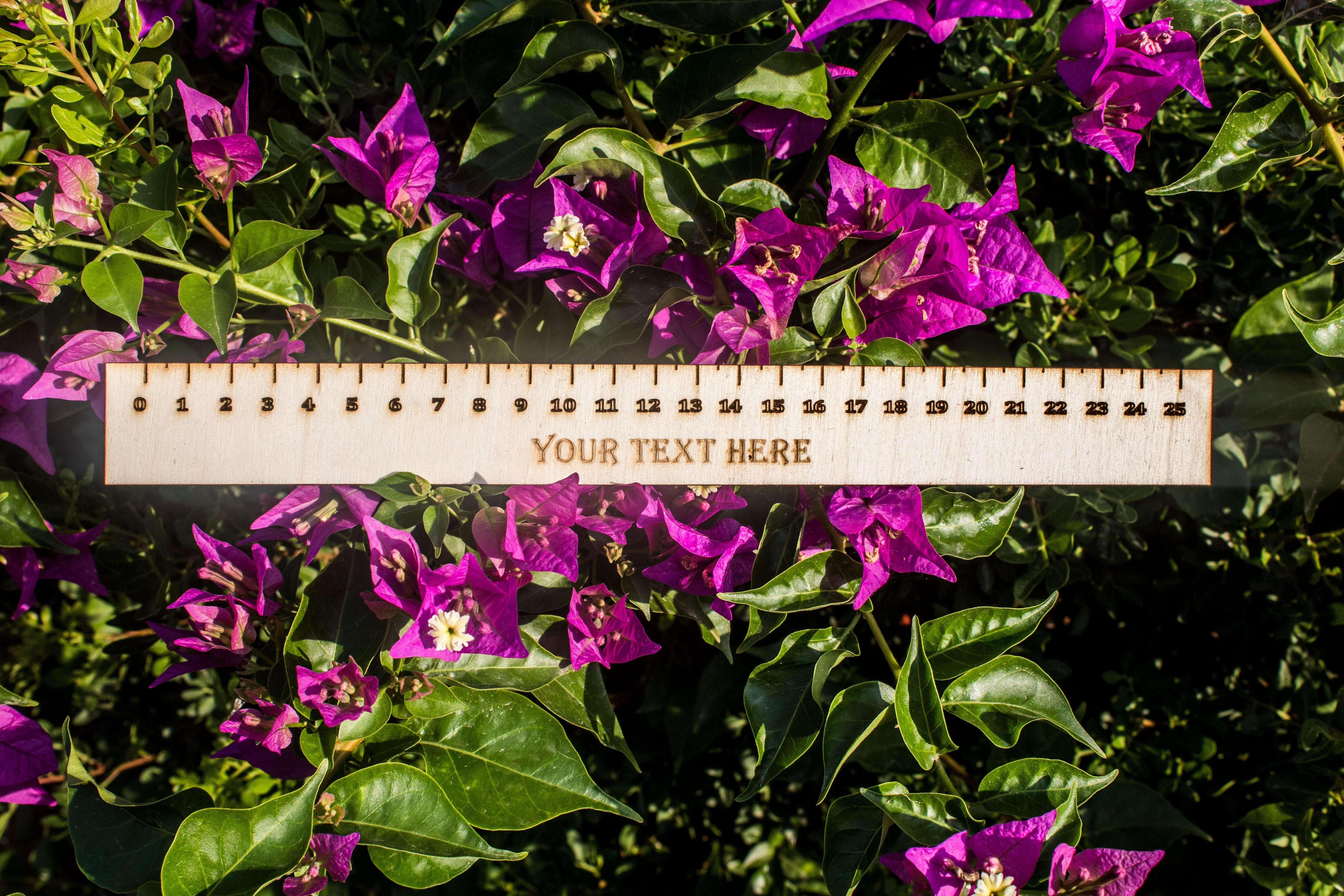 Customized Wooden Ruler | Personalized Engraved Wood Ruler | Custom School Supply for Kids - Wooderland