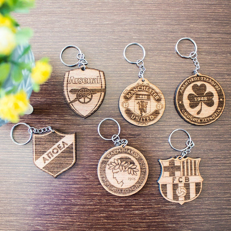 SPORTS WOODEN KEYRING