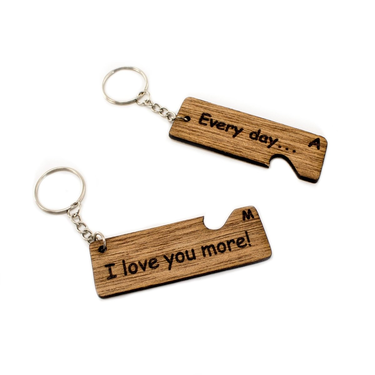 My Whole Heart Wooden Keyring | Heart Shaped Keychain | Best Custom Gift for Boyfriend/Girlfriend - Wooderland