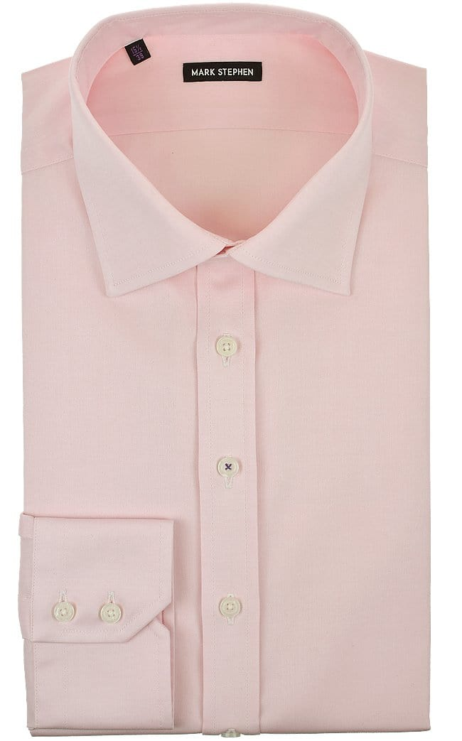 Mark Stephen Regular Fit Pink Pinpoint Shirt