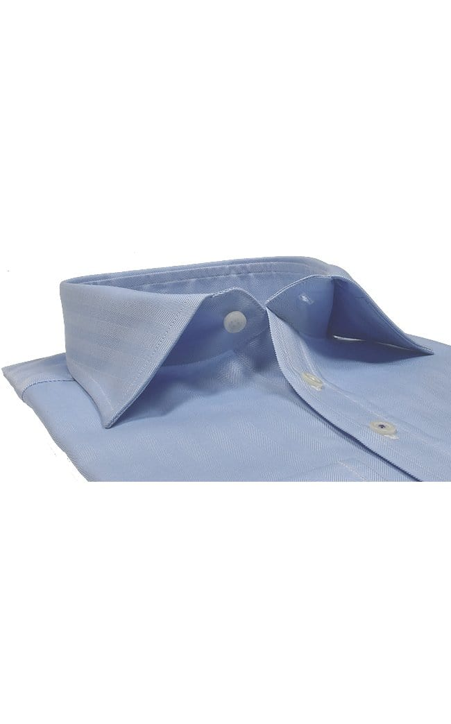 Mark Stephen Regular Fit  Blue Herringbone Shirt