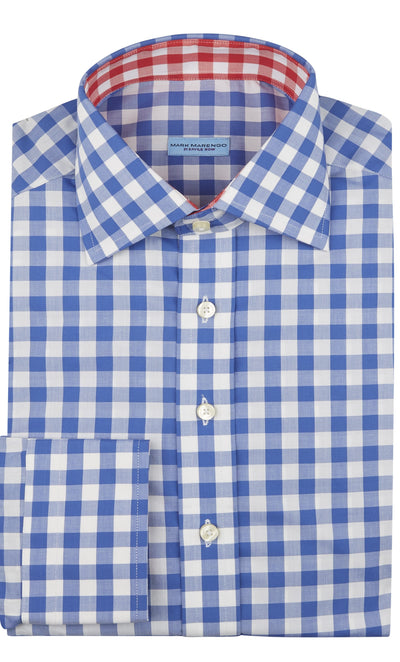 Regular Blue Check Shirt