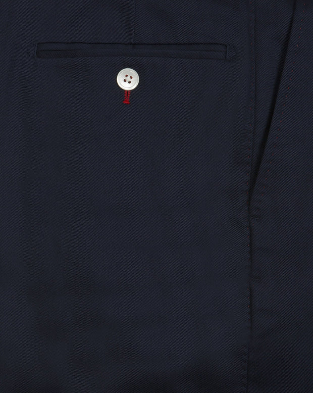 Navy Cotton Drill Trouser - Mark marengo