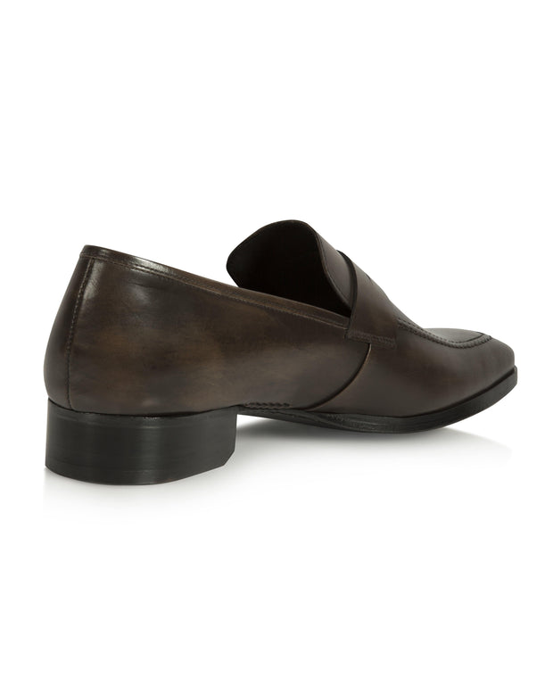 Dark Brown Hand-Stitched Penny Loafer
