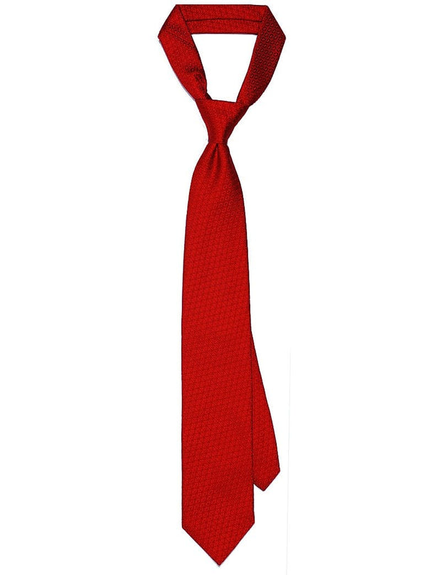 Mark Stephen Red Texture Tie