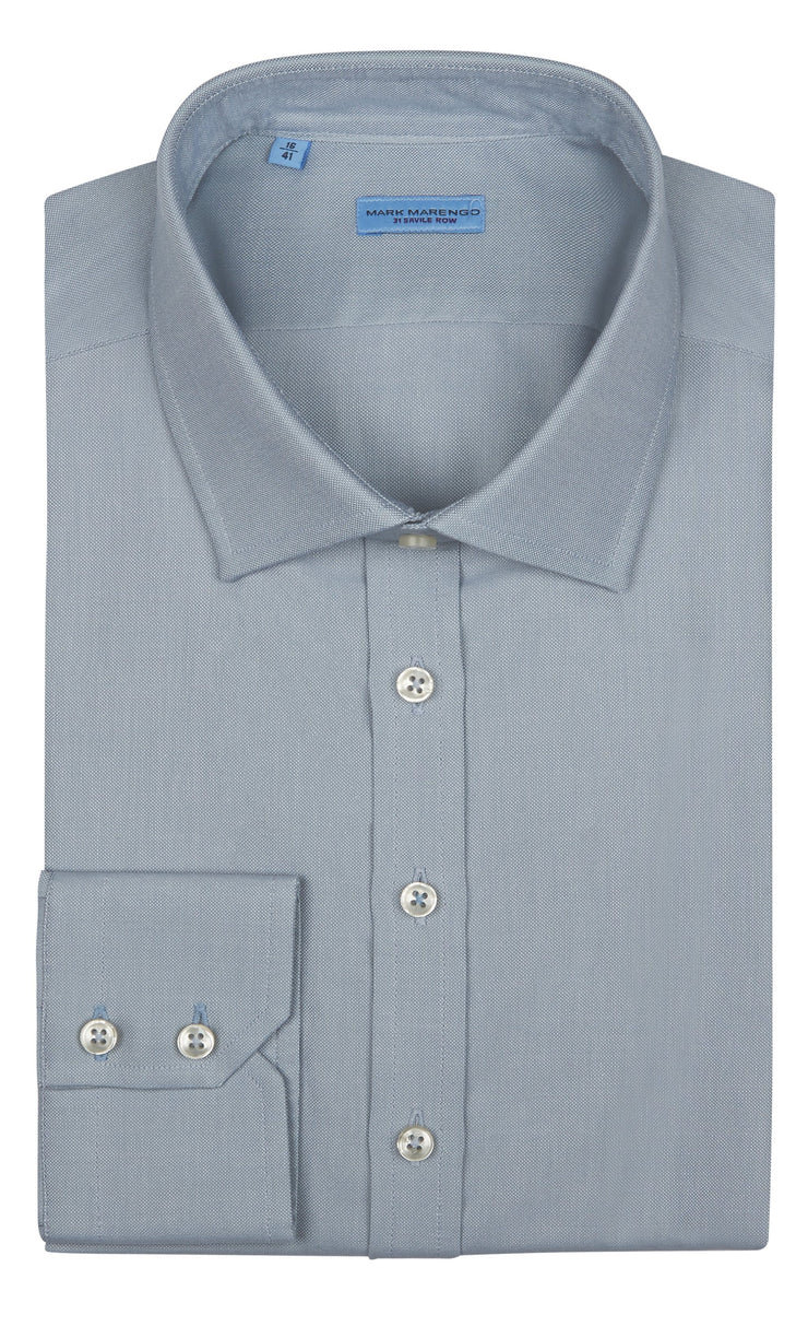 Regular Fit Grey Twill Shirt