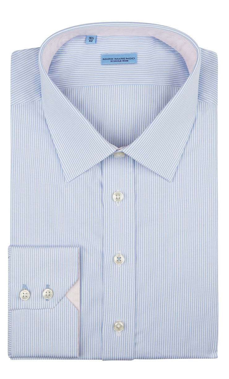 Regular Blue Fine Strip Shirt