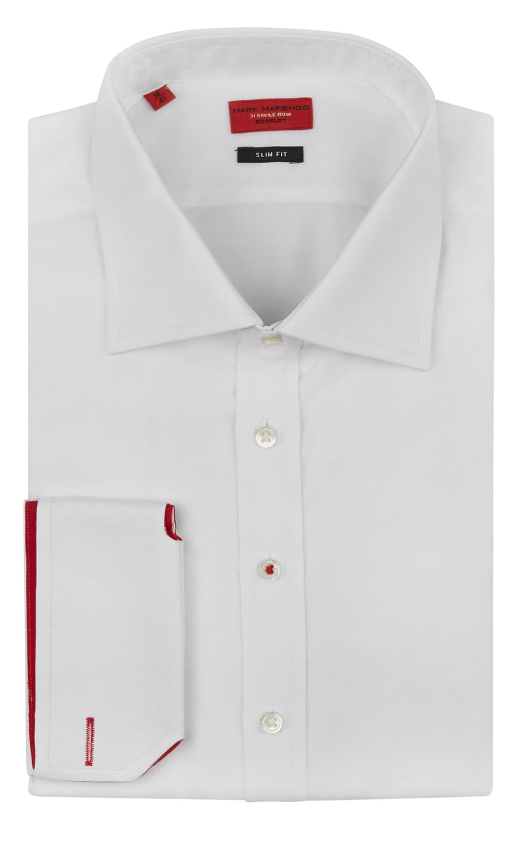 Slim Fit White Pinpoint Shirt