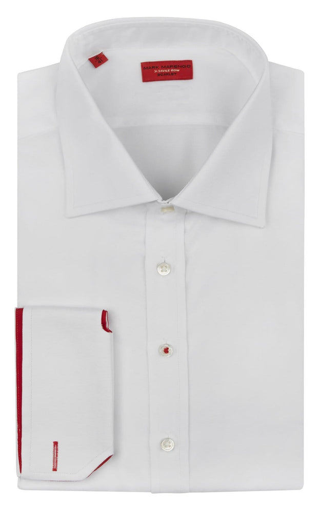 Regular White Pinpoint Shirt