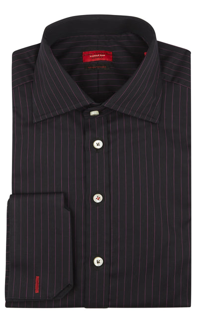 Slim Fit Black Pink Pin Stripe Shirt