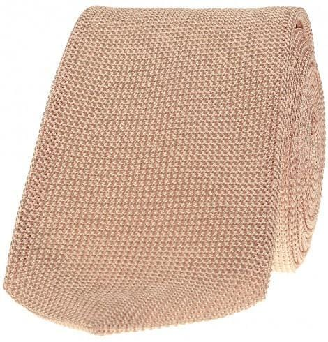 Scarlet Label 100% Silk Grenadine Tie, Self-Lined, Pale Pink - Mark marengo