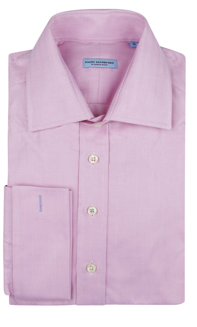Regular Pink Herringbone Shirt