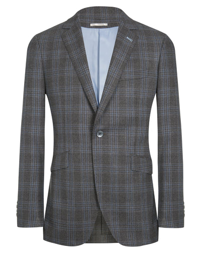 Grey Check Jacket - Mark marengo