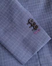 Mark Stephen Bluish Grey Check Suit