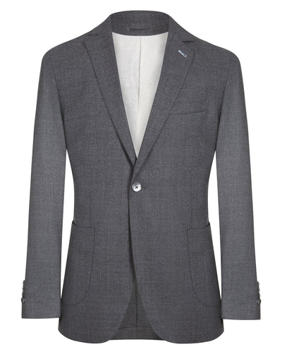 Grey Basket Weave Jacket - Mark marengo