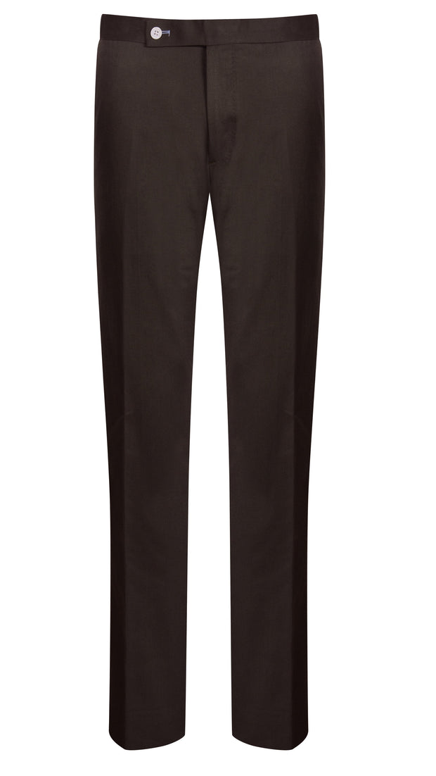 Brown Cotton Drill Trouser - Mark marengo