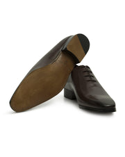 Dark Brown Hand-Stitched Wholecut Shoes