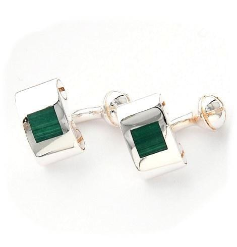 Silver Camera Design Green Cufflinks - Mark marengo