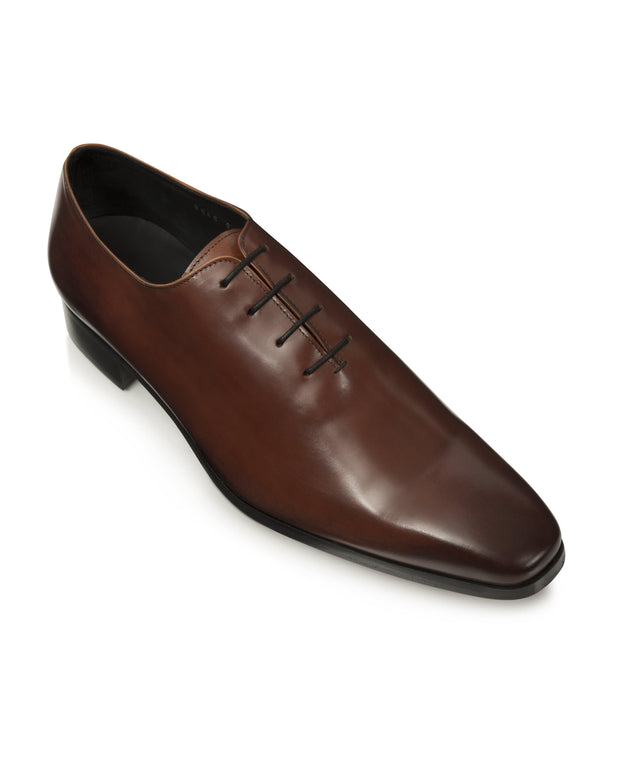 Dark Burgundy Hand-Stitched Wholecut Shoes