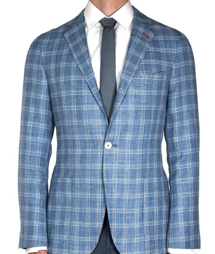 Blue Check Jacket - Mark marengo