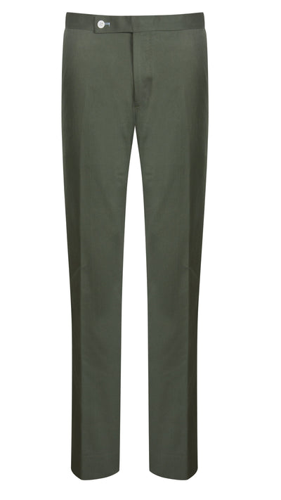 Khaki Cotton Drill Trouser - Mark marengo