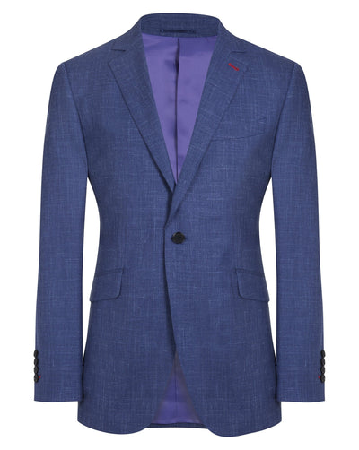 Blue Wool Linen Silk Suit - Mark marengo