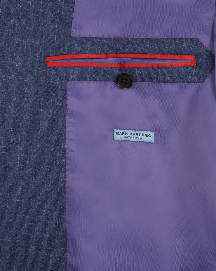 Blue Wool Linen Silk Jacket - Mark marengo