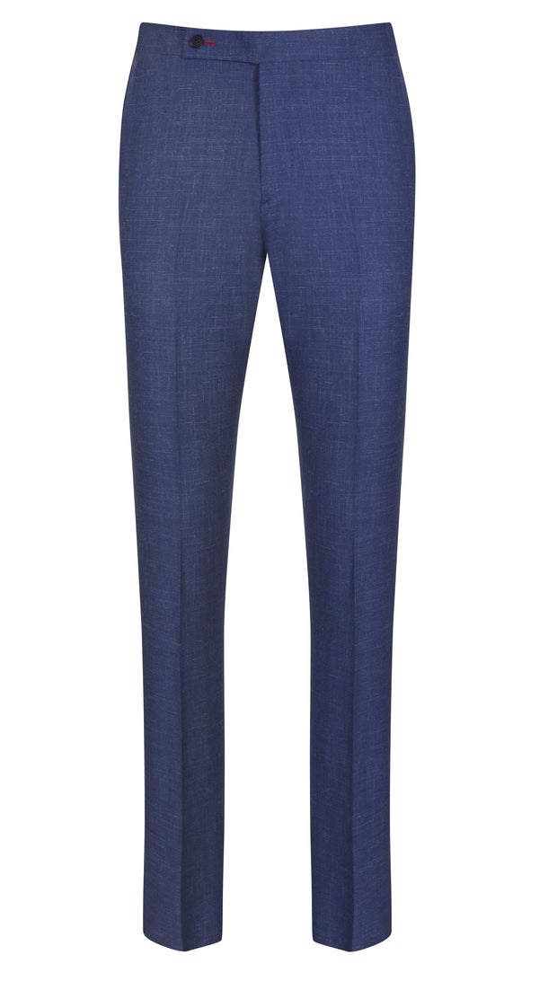 Blue Wool Linen Trousers - Mark marengo