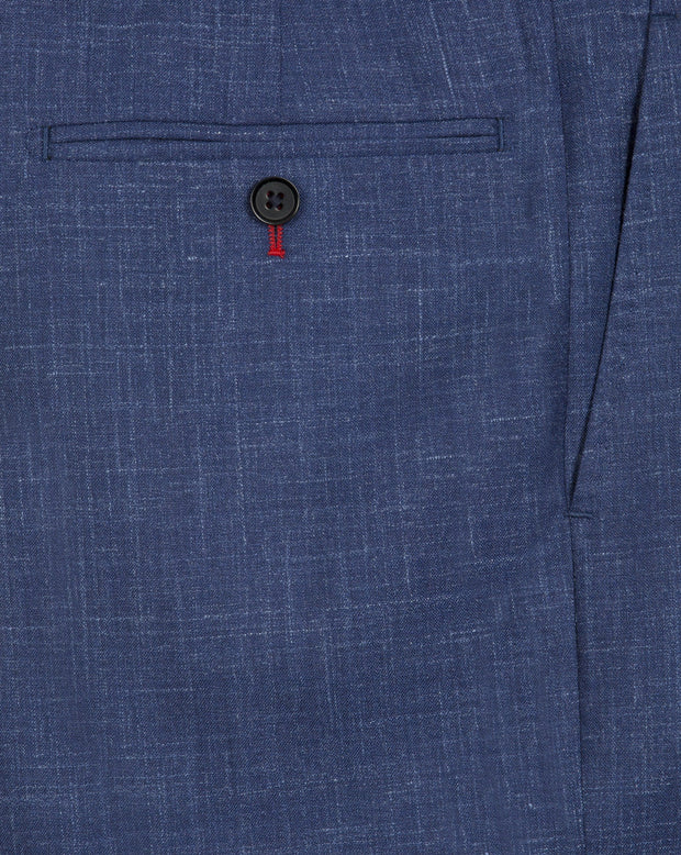 Blue Linen Trousers - Mark marengo