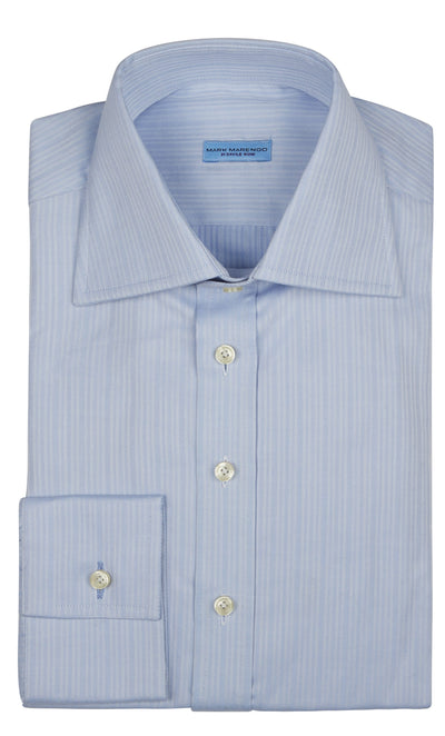 Regular Blue Shadow Strip Shirt