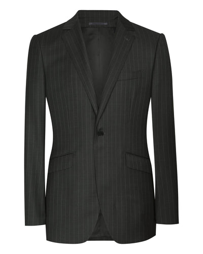 Charcoal Grey Pinstripe Suit - Mark marengo