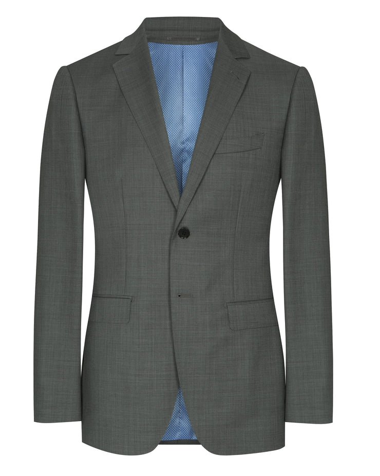 Grey Sharkskin Plain Suit - Mark marengo
