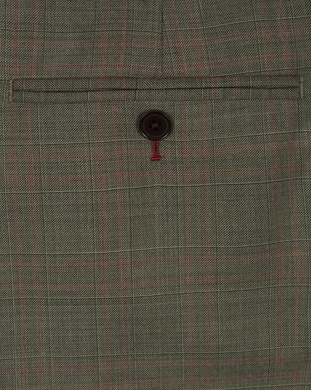 Brown Prince Of Wales Trousers - Mark marengo