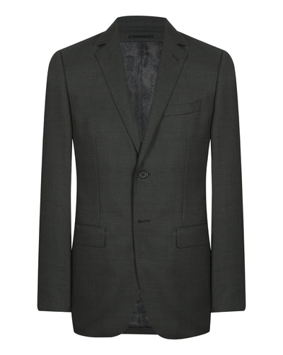 Dark Grey Nailshead Suit - Mark marengo