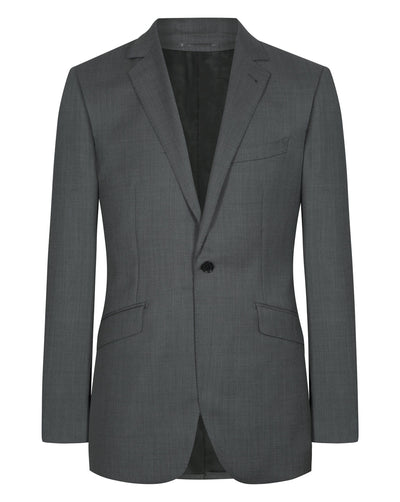 Dark Grey Birds Eye Suit - Mark marengo