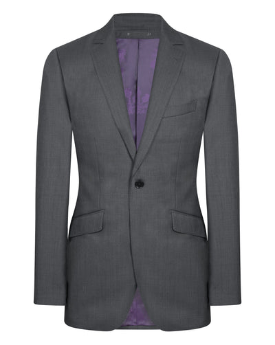 Dark Grey Sharkskin Suit - Mark marengo