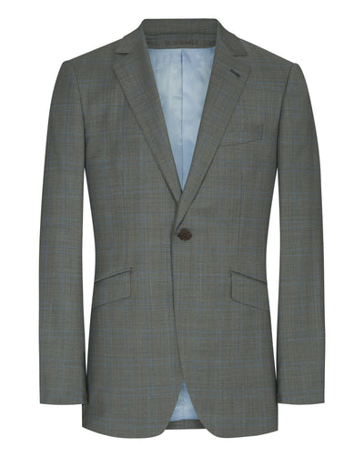 Grey Prince of Wales Suit - Mark marengo