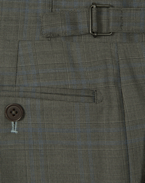 Grey Prince Of Wales Trousers - Mark marengo