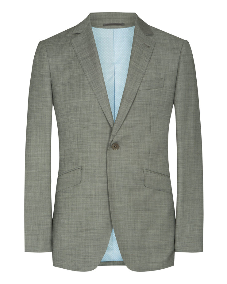 Light Grey Sharkskin Suit - Mark marengo