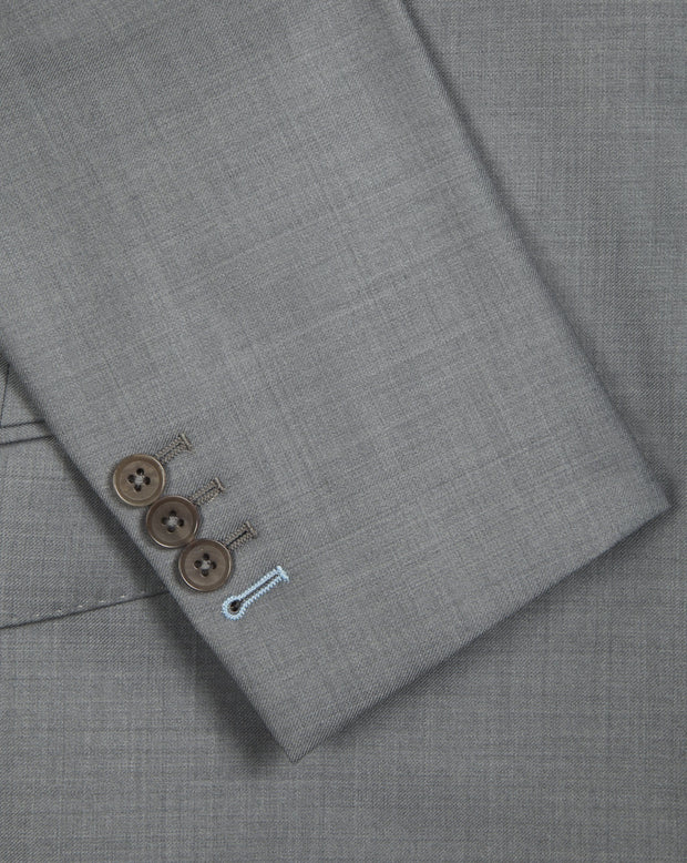 Light Grey Twill Suit - Mark marengo