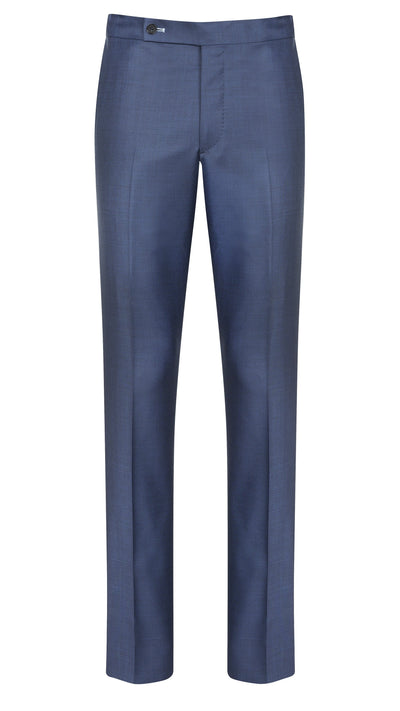 Steel Blue Sharkskin Trousers