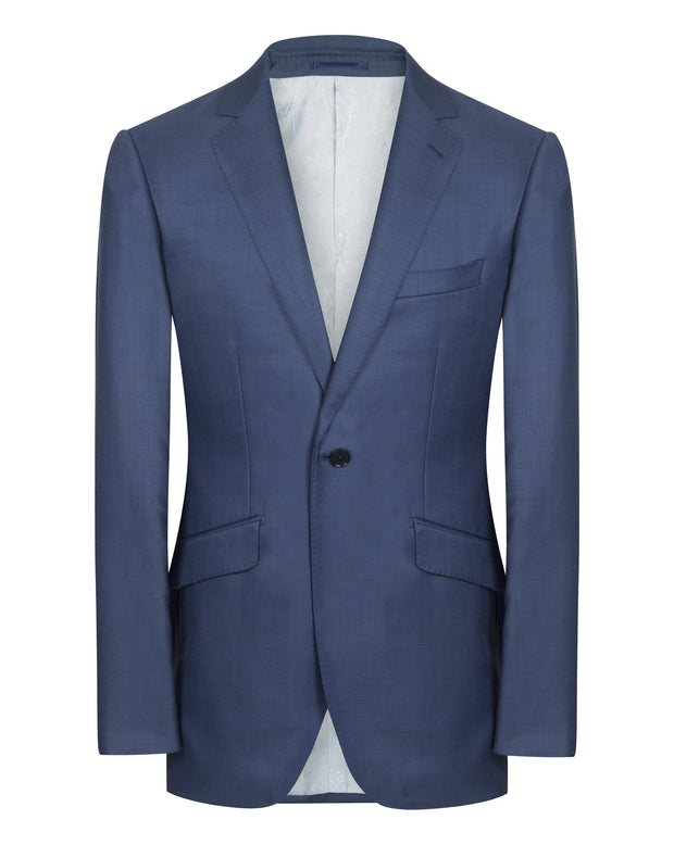 Blue Vivid Sharkskin Suit