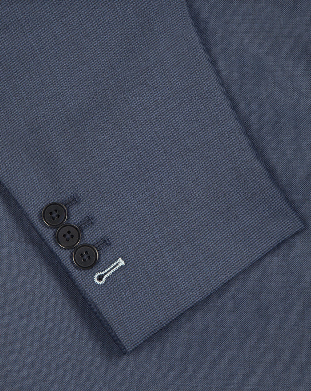 Steel Blue Sharkskin Suit