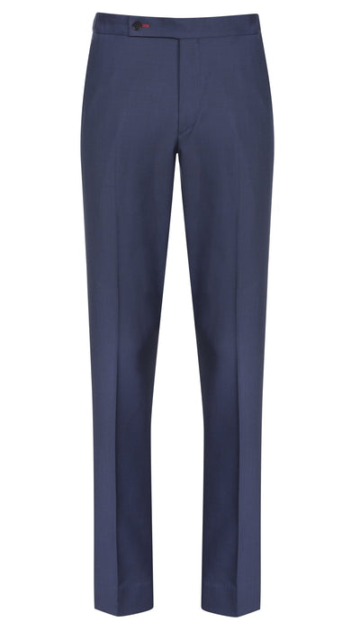 Dark Blue Sharkskin Trousers - Mark marengo