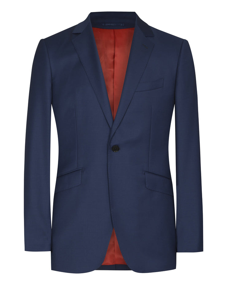 Royal Blue Plain Suit - Mark marengo
