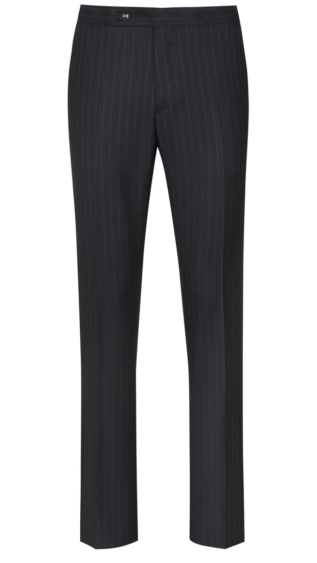 Navy Wide Pinstripe Suit - Mark marengo