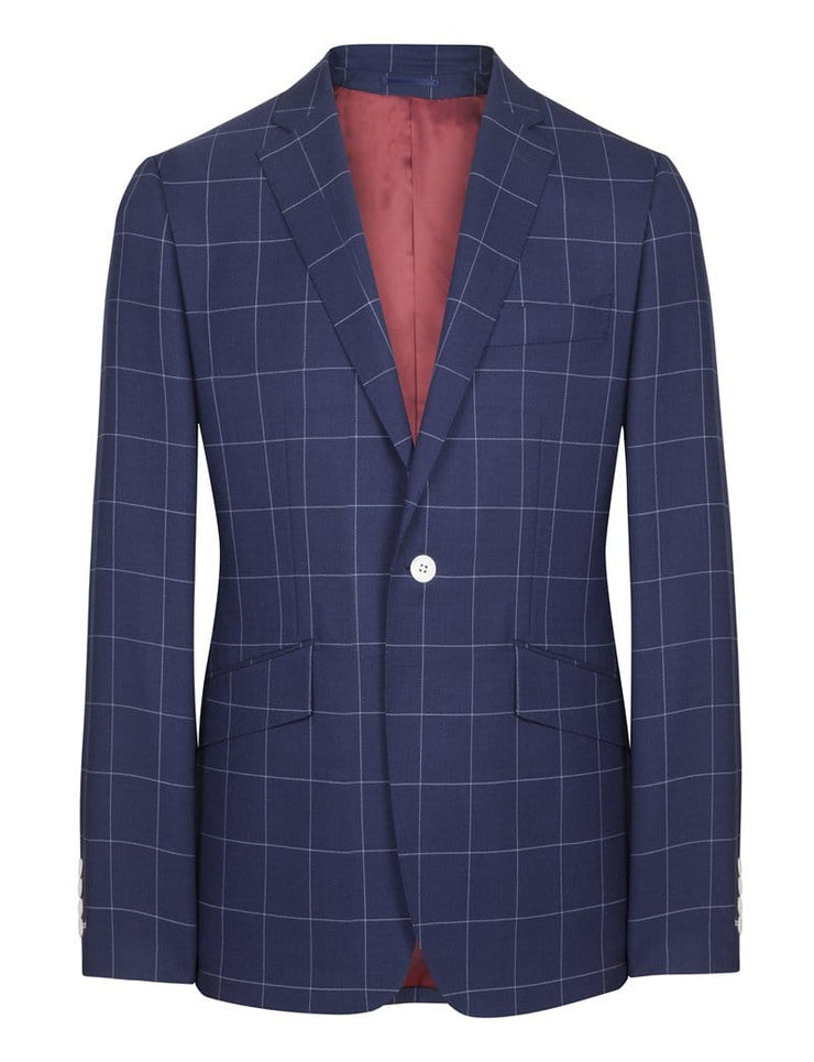 Blue/White Check Jacket